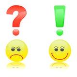 De questions et réponses Images libres de droits