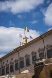 De Quirinale slottvakterna i Rome Italien Royaltyfri Foto