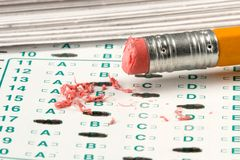 De Quiz van de test stock afbeelding