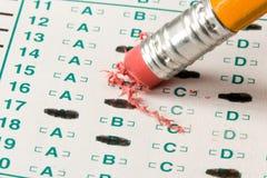 De Quiz van de test stock foto