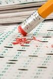 De Quiz van de test stock foto's