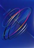 De rörande ljusa cirklarna vid spiral Arkivbild