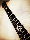 De raad en de koorden van het gitaarlijstwerk Royalty-vrije Stock Afbeelding
