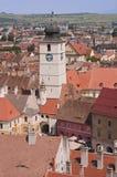 De Raad toren-Sibiu, Roemenië stock afbeelding