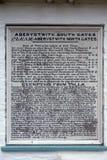 De raad van de Aberystwithtol bij St Fagans Nationaal Museum van Geschiedenis in Cardiff op 27 April, 2019 stock foto's