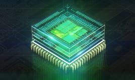 De raad van de kring De technologie van de elektronische computerhardware Motherboard digitale spaander Technologie-wetenschapsed royalty-vrije illustratie