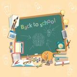 De raad van de onderwijsschool terug naar de schoolonderwerpen van de schooluniversiteit Royalty-vrije Stock Afbeelding