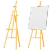 De raad van de schildersezel Stock Afbeelding