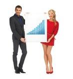 De raad van de vrouwenholding met 3d grafiek Royalty-vrije Stock Foto
