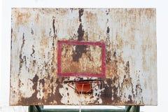 De raad van het basketbalijzer is vuil Stock Foto's