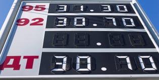 De raad van het benzinestation Stock Fotografie