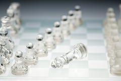 De raad van het glasschaak Royalty-vrije Stock Afbeelding