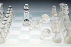 De raad van het glasschaak Royalty-vrije Stock Afbeeldingen