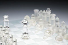 De raad van het glasschaak de koning Stock Afbeelding