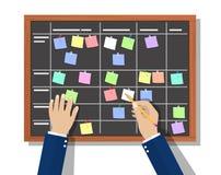 De raad van het kalenderprogramma met samenwerkingsplan, royalty-vrije illustratie