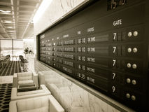 De Raad van het luchthavenvertrek in Zitkamer Royalty-vrije Stock Afbeelding