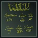De raad van het menu Stock Foto