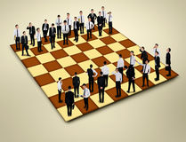 De raad van het schaak royalty-vrije stock foto