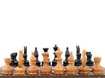 De raad van het schaak die op witte achtergrond wordt geïsoleerdv. Royalty-vrije Stock Foto