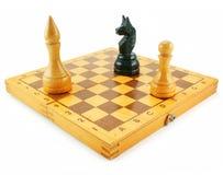 De raad van het schaak en chessmens Royalty-vrije Stock Fotografie