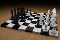 De raad van het schaak met cijfers vector illustratie