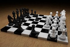 De raad van het schaak met cijfers royalty-vrije illustratie