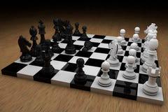 De raad van het schaak met cijfers stock illustratie