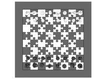 De raad van het schaak met schaakstukken vector illustratie