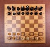De raad van het schaak op bovenkant Royalty-vrije Stock Fotografie
