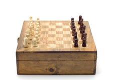 De raad van het schaak op wit stock afbeelding
