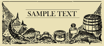De Raad van het Teken van vissen stock illustratie