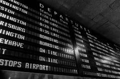 De raad van het treinprogramma Royalty-vrije Stock Foto's