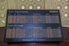 De raad van het treinprogramma Royalty-vrije Stock Fotografie