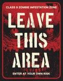 De raad van het de uitbarstingsteken van de affichezombie Stock Afbeelding