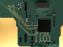 De raad van de kring De hardware van de technologiecomputer Royalty-vrije Stock Foto