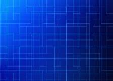 De raad van de kring High-tech technologieachtergrond 3D Patroon Stock Foto