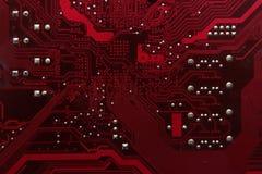 De raad van de kring De technologie van de elektronische computerhardware Motherboard digitale spaander Technologie-wetenschapsac Stock Afbeeldingen