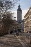 De Raad van Leipzig Buitenaltes Rathaus Stadsoverheid Duitsland E royalty-vrije stock foto's
