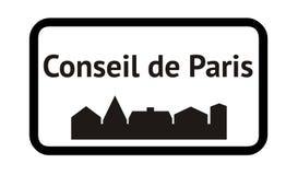 De Raad van Parijs in Frankrijk stock illustratie