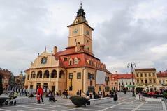 De Raad Vierkant in Brasov Stock Foto's