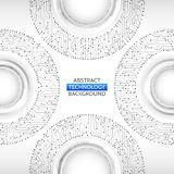 De raads vectorillustratie van de cirkelkring High-tech technologie B Royalty-vrije Illustratie