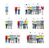 De Raadsconcept van de groeps Mensen Holding Stock Foto's