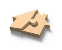 De raadsels van de blokhuisvorm Royalty-vrije Stock Afbeelding