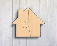De raadsels van de blokhuisvorm Stock Afbeelding
