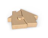 De raadsels van de blokhuisvorm Stock Foto