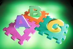 De Raadsels van het alfabet Stock Afbeelding