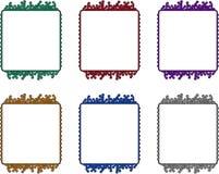 De raadsframes van de kring Stock Foto's