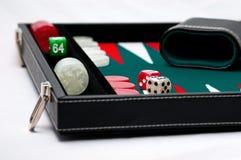 De raadsspel van het backgammon stock afbeelding