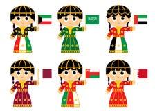 De raadsvlaggen van de golfsamenwerking royalty-vrije illustratie
