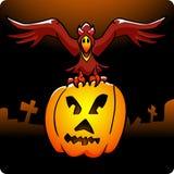 De Raaf van Halloween royalty-vrije illustratie